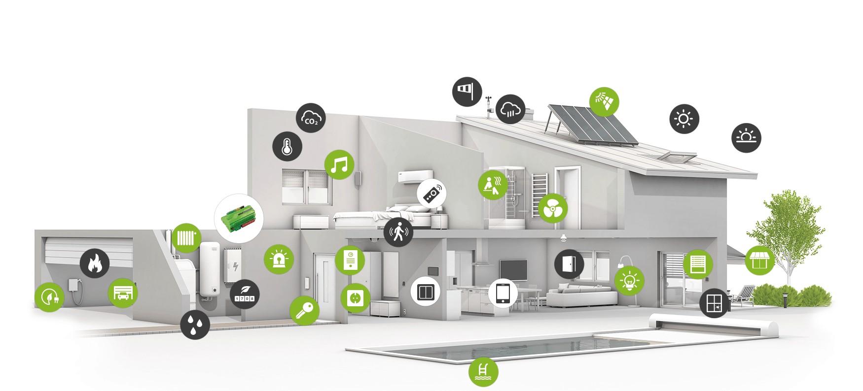 3d house icons web - Älykoti